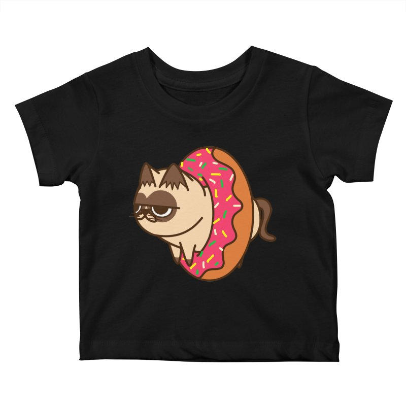 donuts  cat Kids Baby T-Shirt by damian's Artist Shop