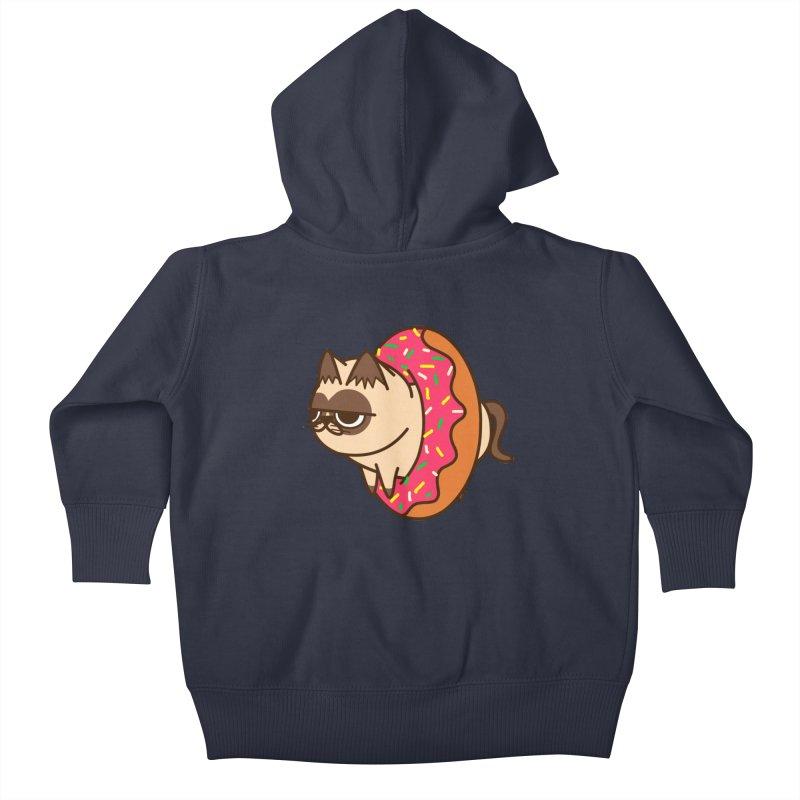 donuts  cat Kids Baby Zip-Up Hoody by damian's Artist Shop