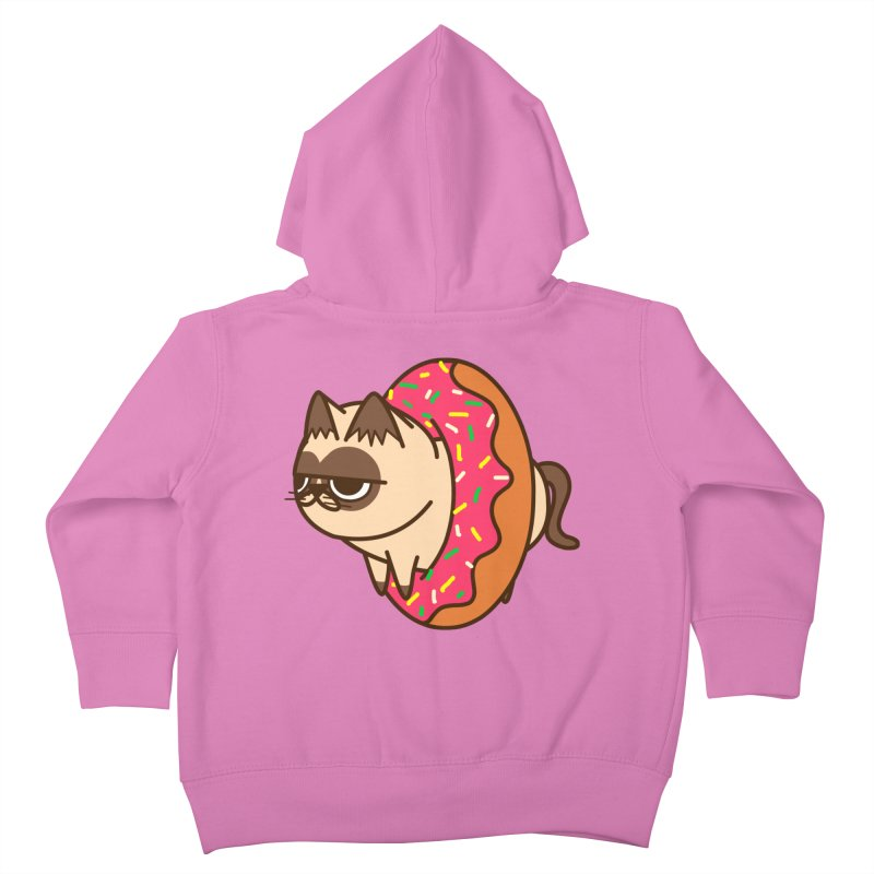 donuts  cat Kids Toddler Zip-Up Hoody by damian's Artist Shop