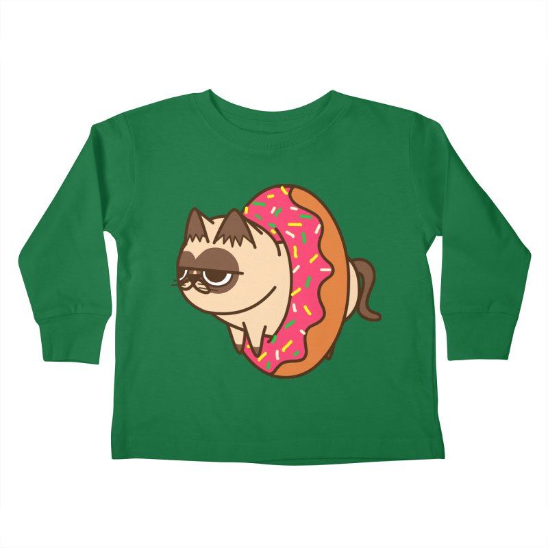 donuts  cat Kids Toddler Longsleeve T-Shirt by damian's Artist Shop
