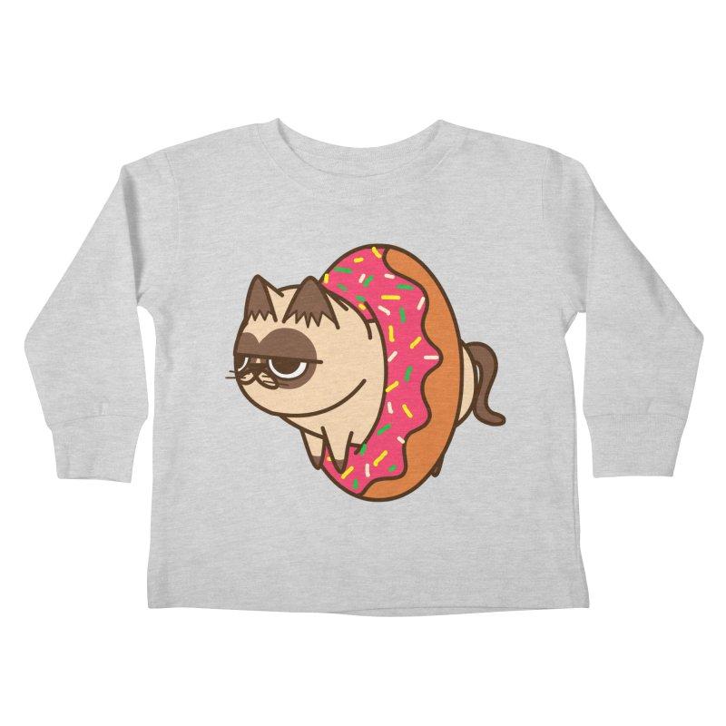 donuts  cat Kids Toddler Longsleeve T-Shirt by damian's Artist Shop