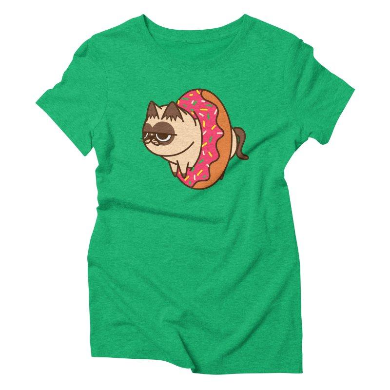 donuts  cat Women's Triblend T-Shirt by damian's Artist Shop