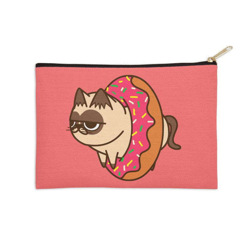 donuts  cat Accessories Zip Pouch by damian's Artist Shop