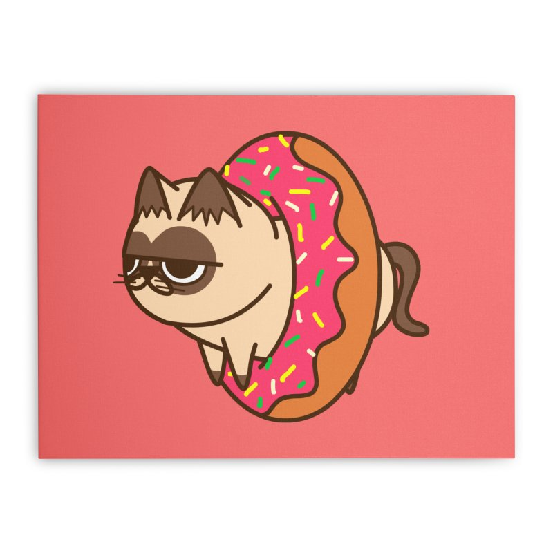 donuts  cat Home Stretched Canvas by damian's Artist Shop