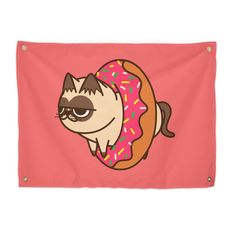 donuts  cat Home Tapestry by damian's Artist Shop