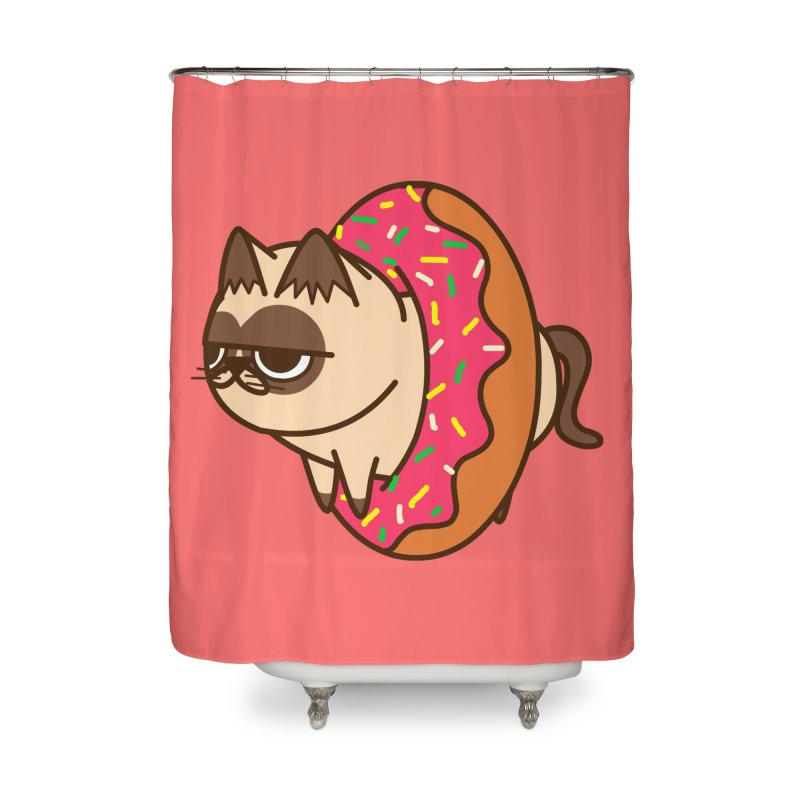 donuts  cat Home Shower Curtain by damian's Artist Shop