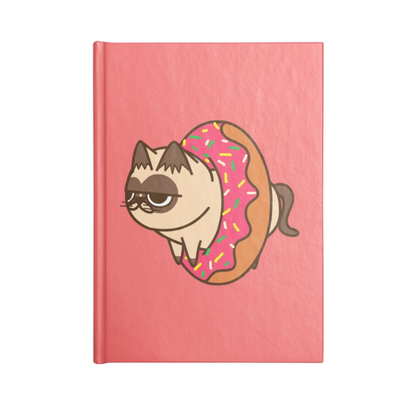 donuts  cat Accessories Notebook by damian's Artist Shop