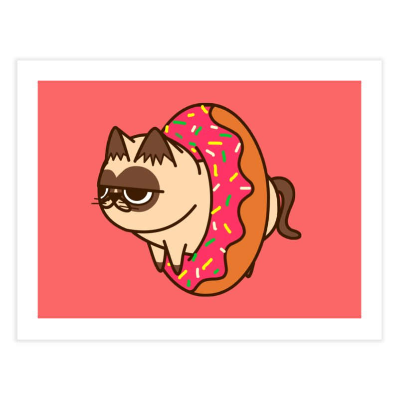 donuts  cat Home Fine Art Print by damian's Artist Shop