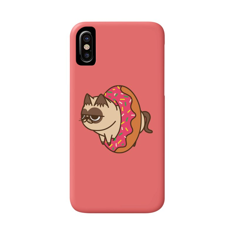 donuts  cat Accessories Phone Case by damian's Artist Shop