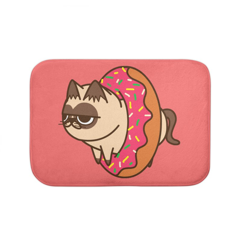 donuts  cat Home Bath Mat by damian's Artist Shop