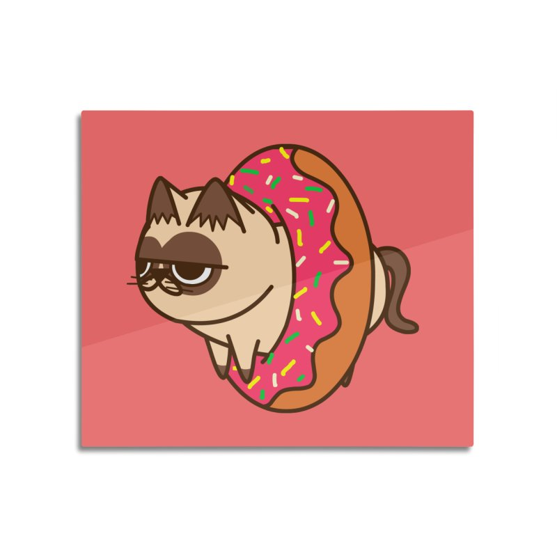 donuts  cat Home Mounted Aluminum Print by damian's Artist Shop