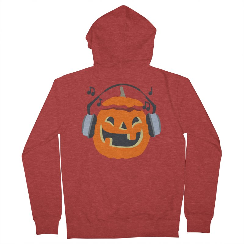 Halloween Music Women's Zip-Up Hoody by damian's Artist Shop