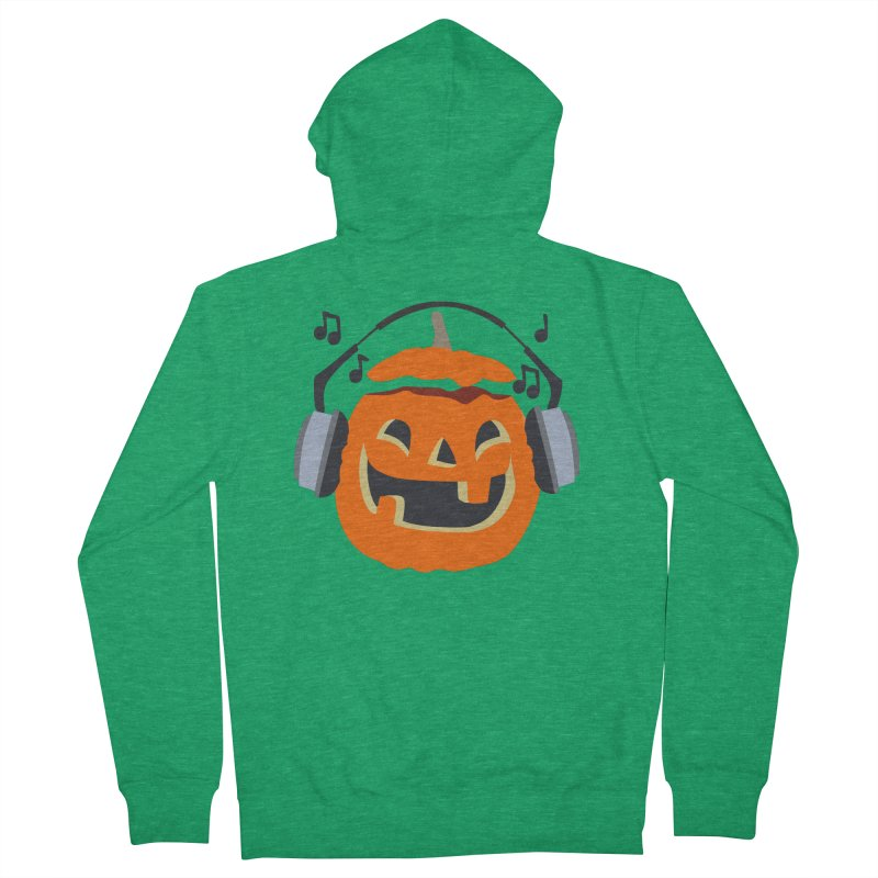Halloween Music Men's Zip-Up Hoody by damian's Artist Shop