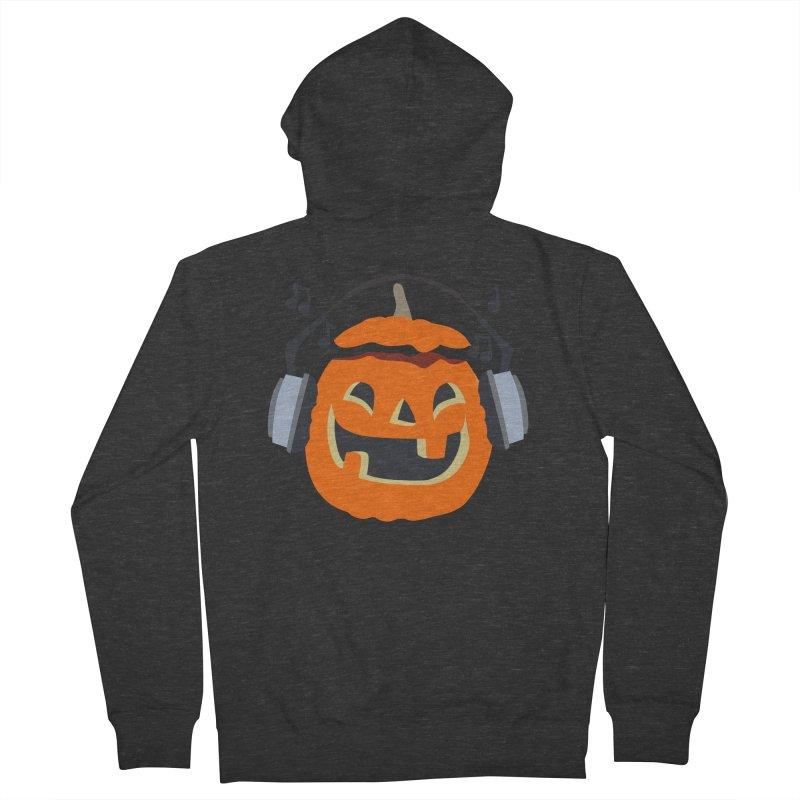 Halloween Music Men's Zip-Up Hoody by damian's Artist Shop