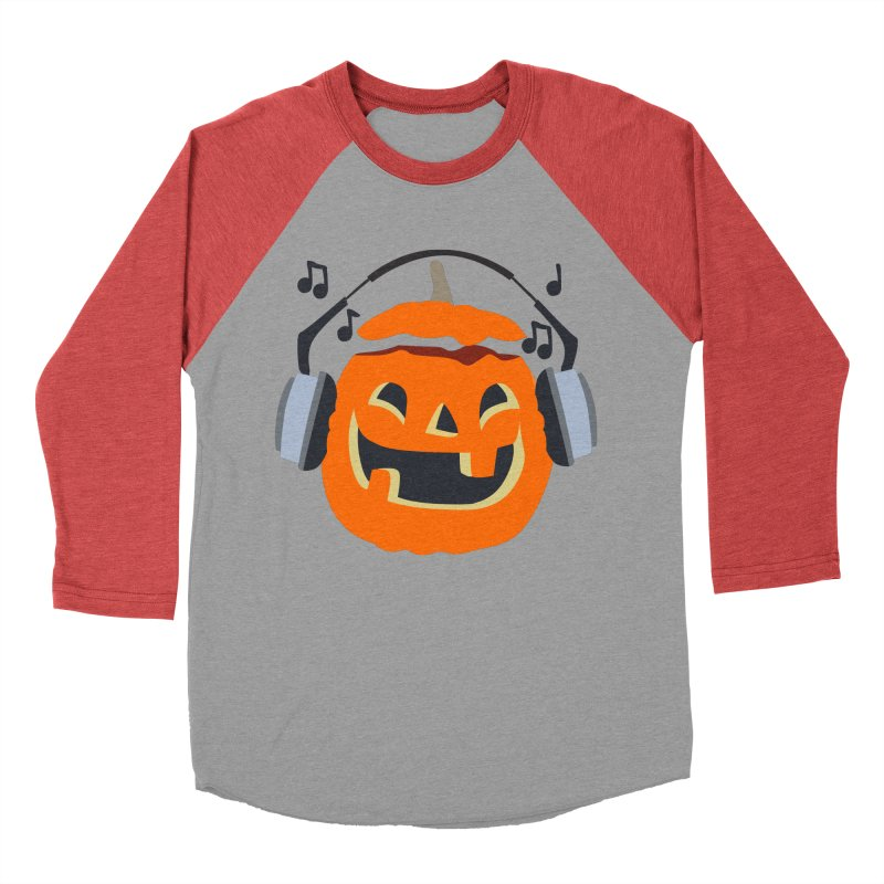 Halloween Music Women's Baseball Triblend T-Shirt by damian's Artist Shop