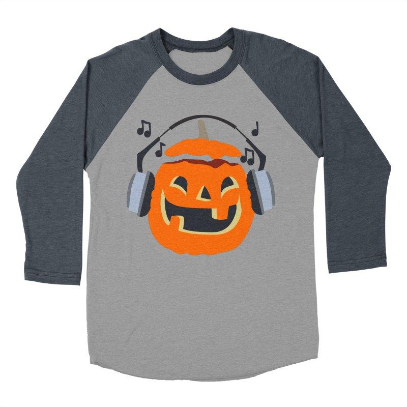 Halloween Music Men's Baseball Triblend Longsleeve T-Shirt by damian's Artist Shop