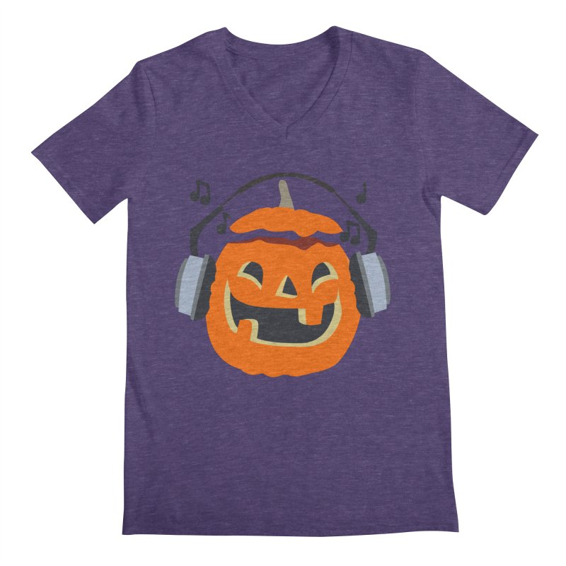 Halloween Music Men's V-Neck by damian's Artist Shop