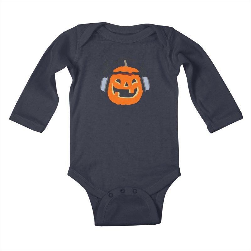 Halloween Music Kids Baby Longsleeve Bodysuit by damian's Artist Shop