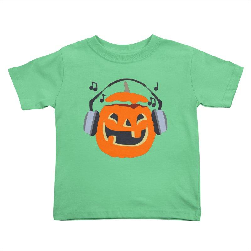 Halloween Music Kids Toddler T-Shirt by damian's Artist Shop