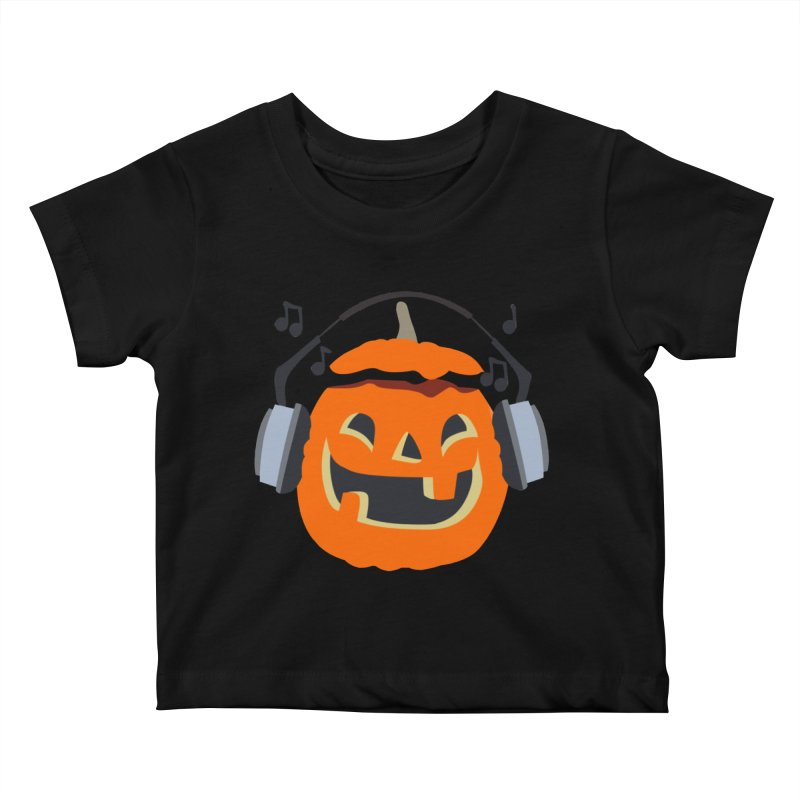 Halloween Music Kids Baby T-Shirt by damian's Artist Shop