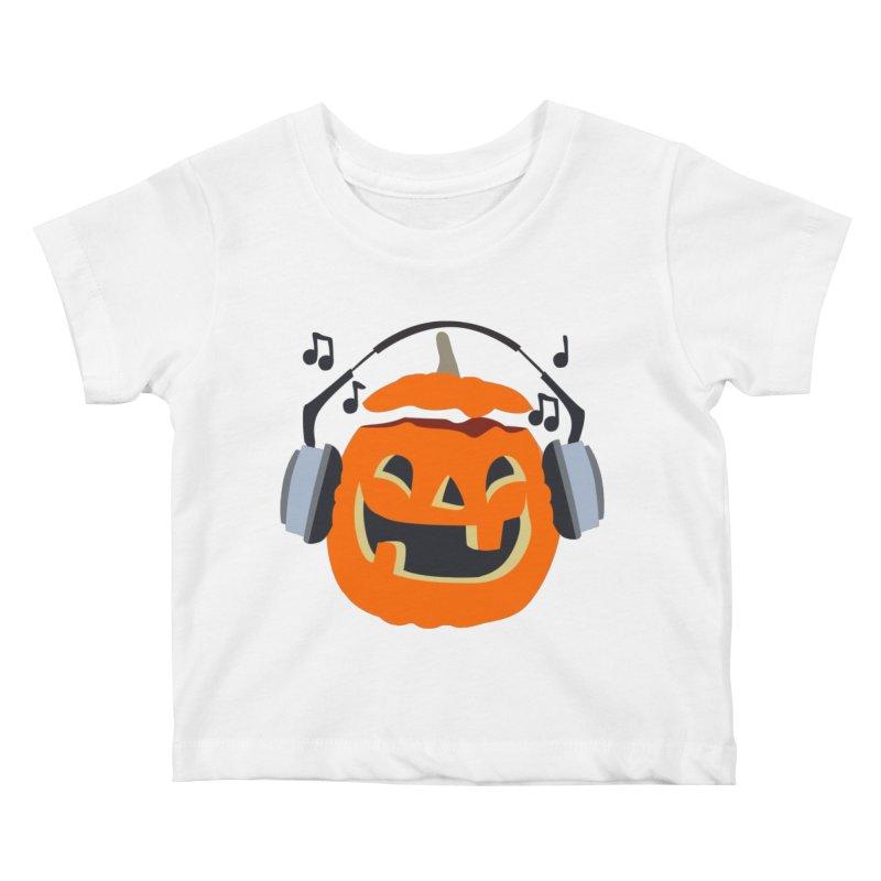 Halloween Music Kids Baby T-Shirt by damian's Artist Shop