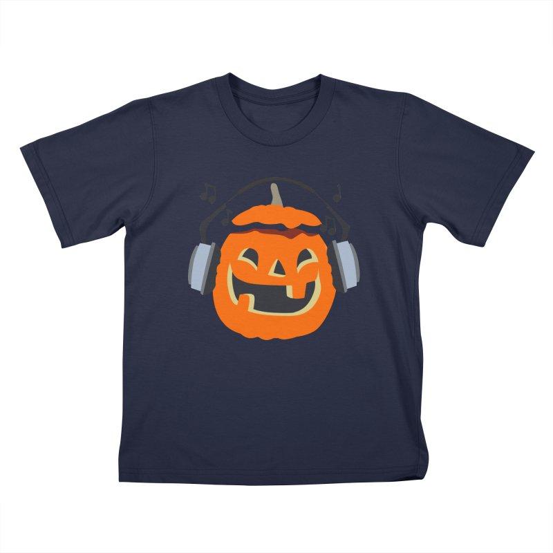 Halloween Music Kids T-shirt by damian's Artist Shop