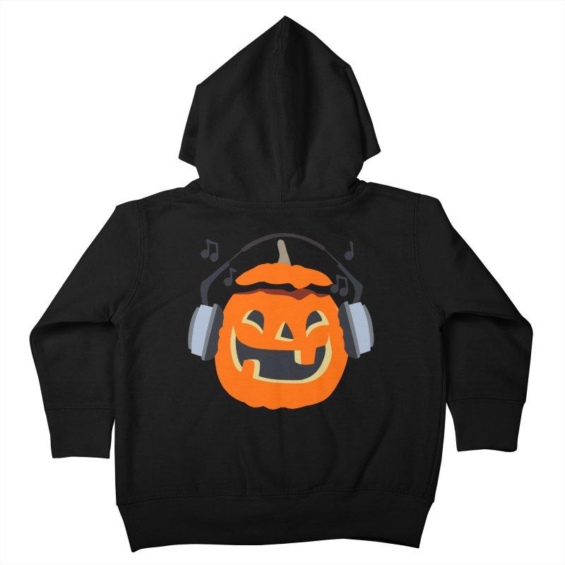 Halloween Music Kids Toddler Zip-Up Hoody by damian's Artist Shop