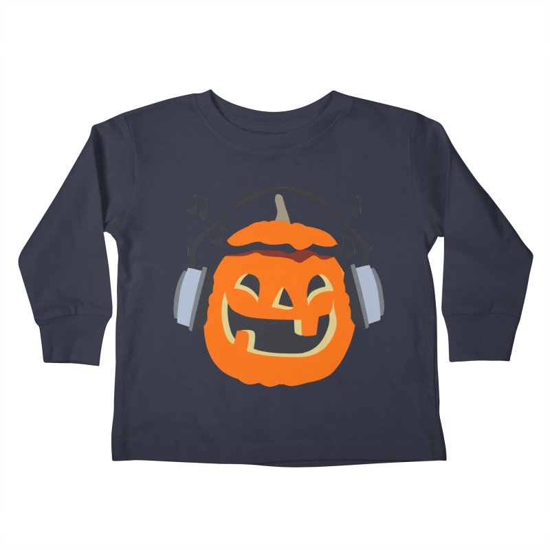 Halloween Music Kids Toddler Longsleeve T-Shirt by damian's Artist Shop