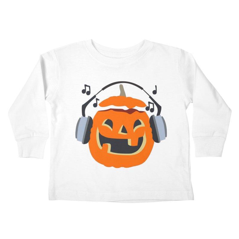 Halloween Music Kids Toddler Longsleeve T-Shirt by damian's Artist Shop