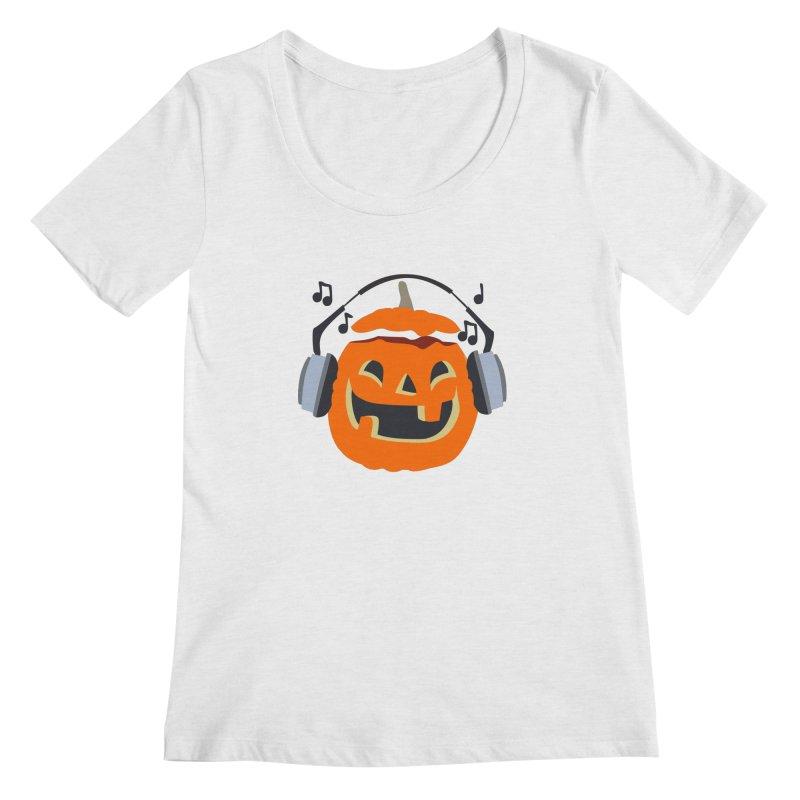 Halloween Music Women's Scoopneck by damian's Artist Shop