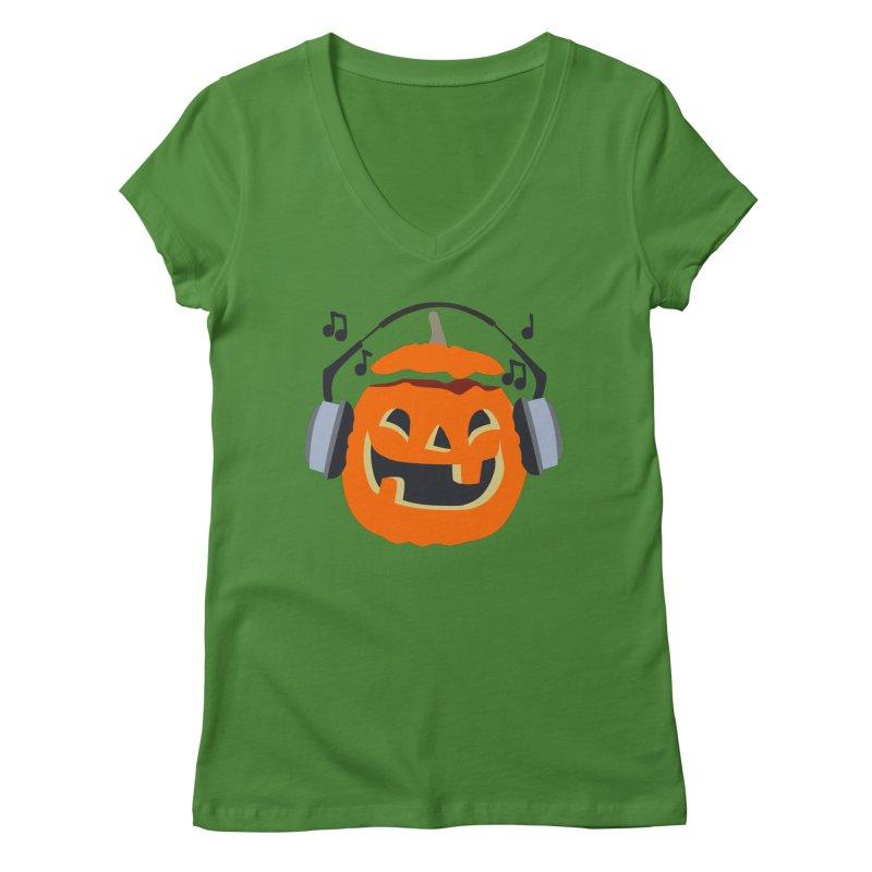 Halloween Music Women's V-Neck by damian's Artist Shop