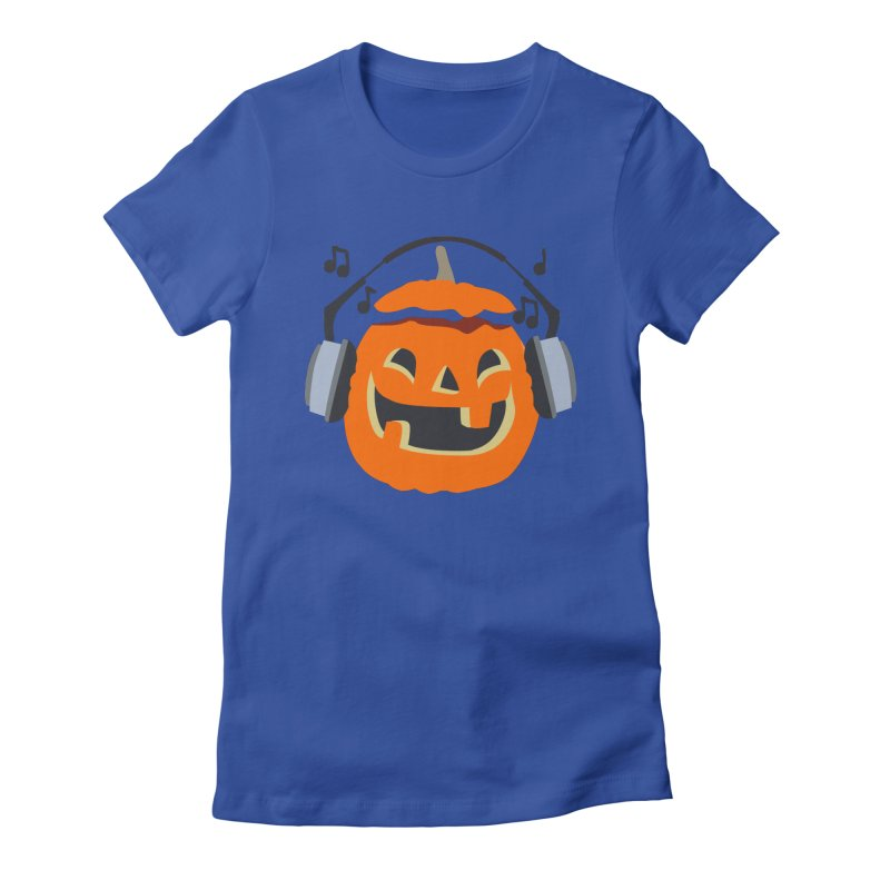 Halloween Music Women's Fitted T-Shirt by damian's Artist Shop