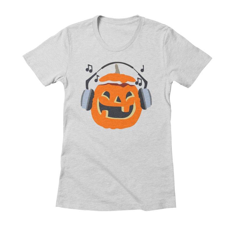Halloween Music Women's Fitted T-Shirt by damian's Artist Shop