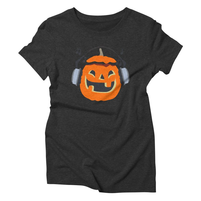 Halloween Music Women's Triblend T-Shirt by damian's Artist Shop