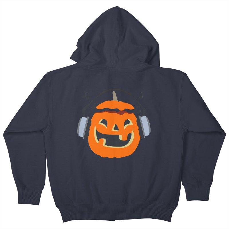 Halloween Music Kids Zip-Up Hoody by damian's Artist Shop