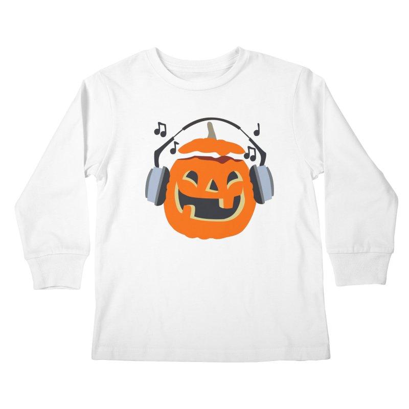 Halloween Music Kids Longsleeve T-Shirt by damian's Artist Shop
