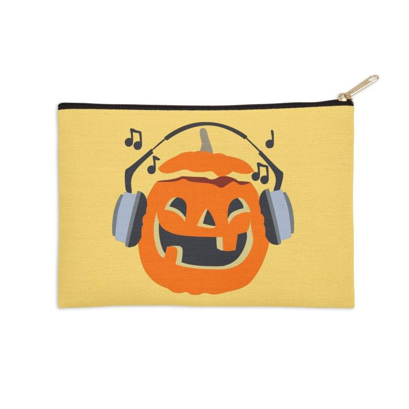 Halloween Music Accessories Zip Pouch by damian's Artist Shop