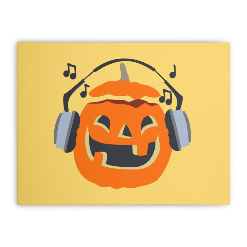 Halloween Music Home Stretched Canvas by damian's Artist Shop