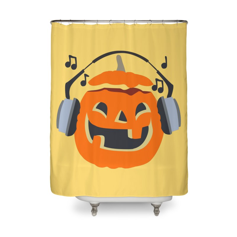 Halloween Music Home Shower Curtain by damian's Artist Shop