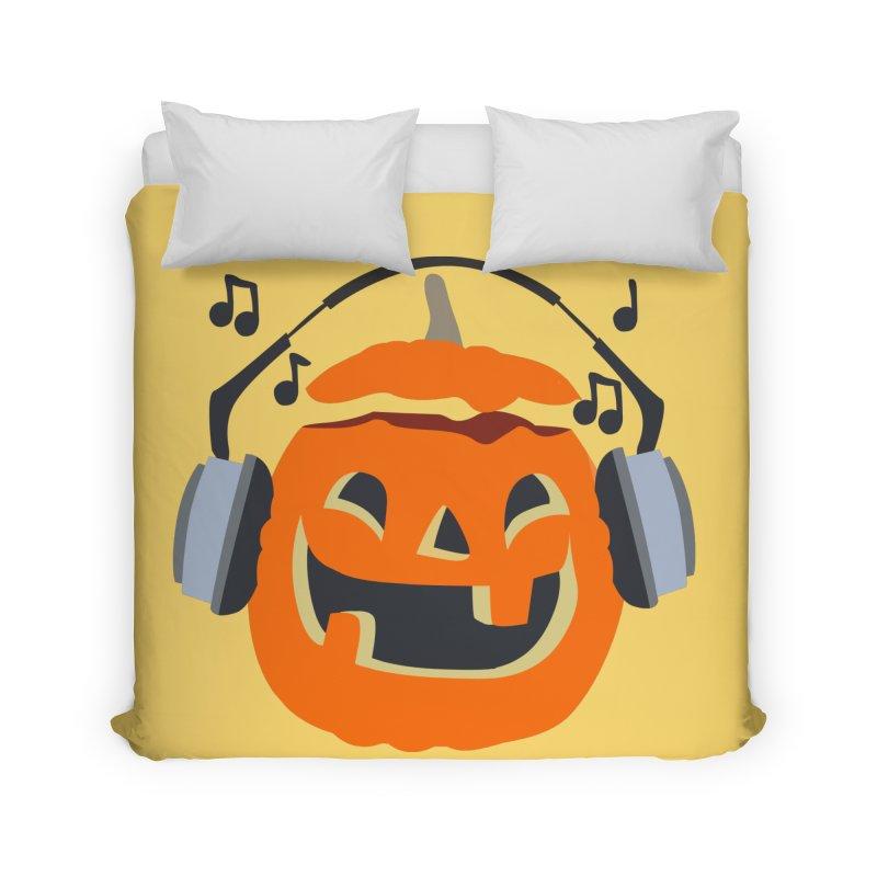 Halloween Music Home Duvet by damian's Artist Shop