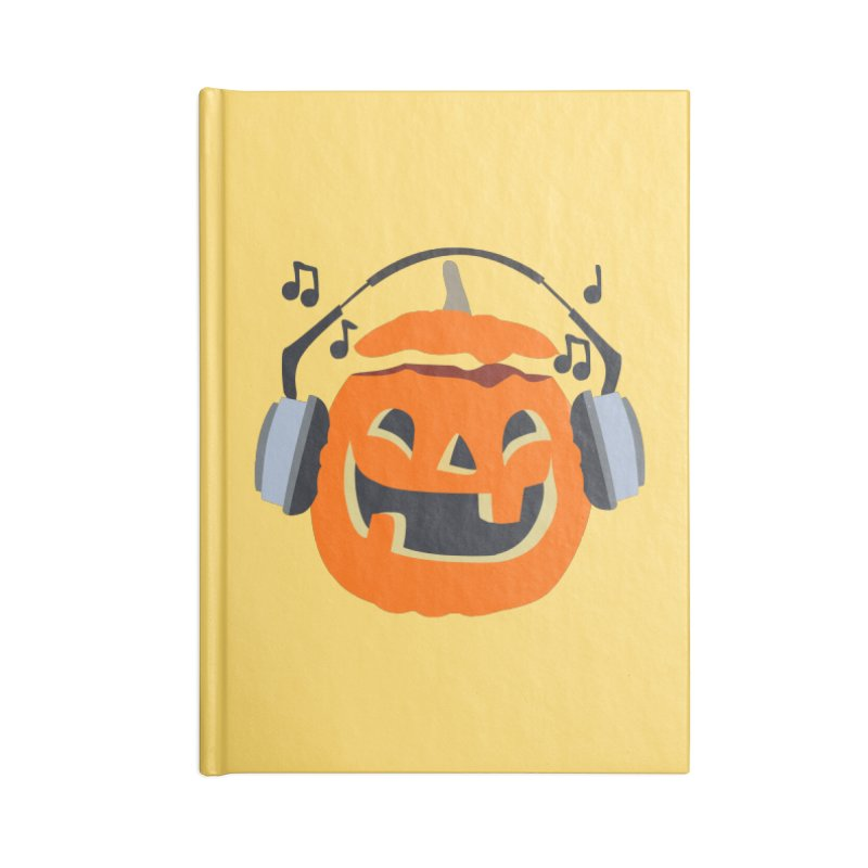 Halloween Music Accessories Notebook by damian's Artist Shop