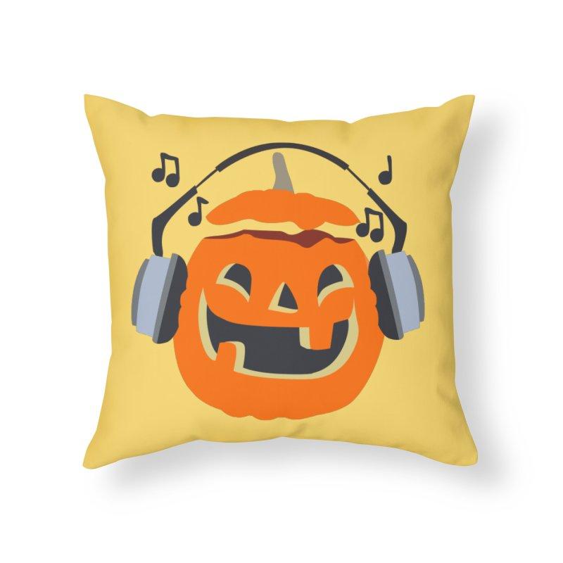 Halloween Music Home Throw Pillow by damian's Artist Shop