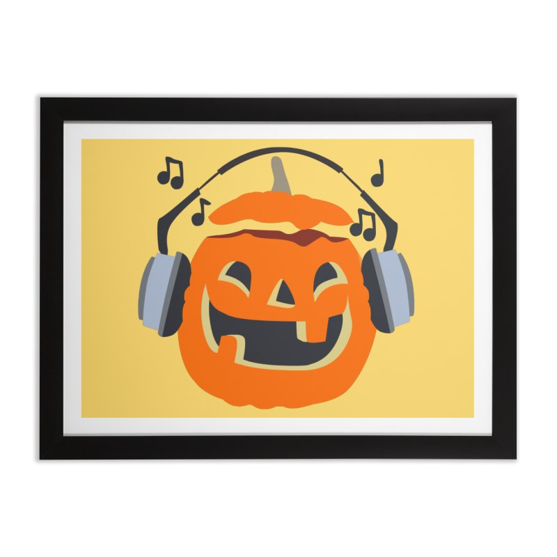 Halloween Music Home Framed Fine Art Print by damian's Artist Shop