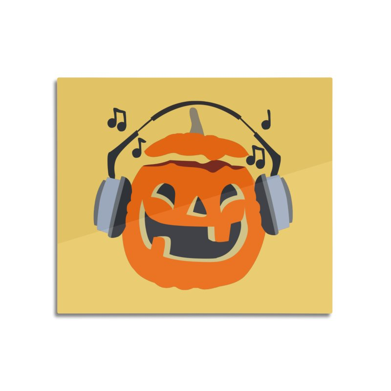 Halloween Music Home Mounted Aluminum Print by damian's Artist Shop