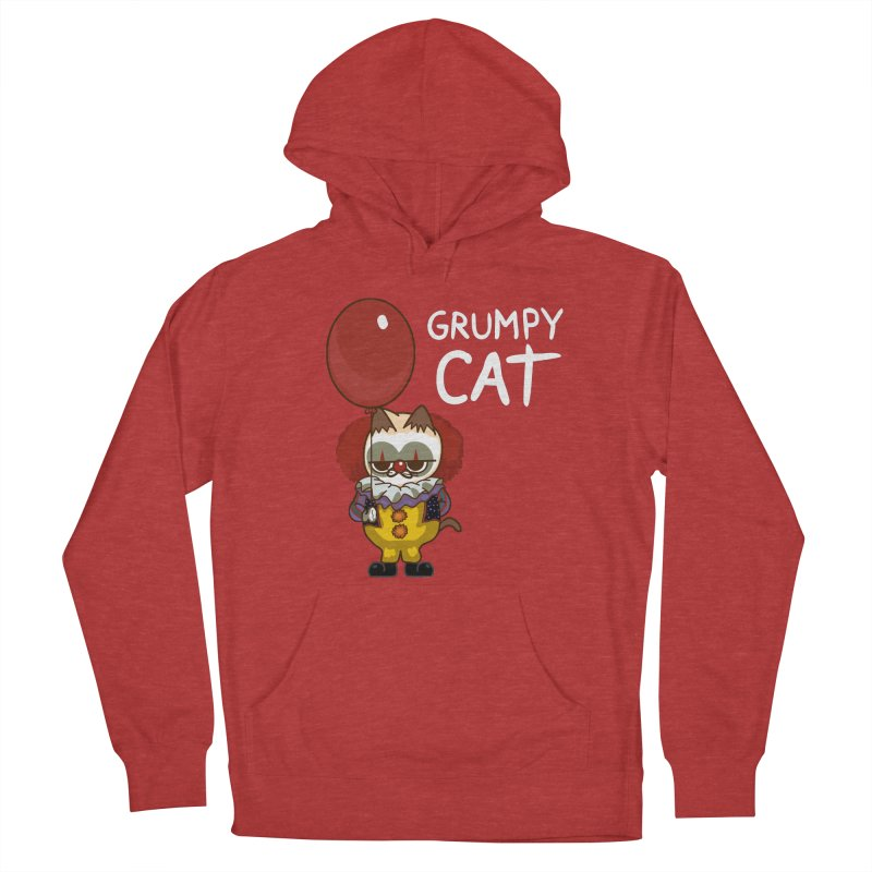 clown cat Men's Pullover Hoody by damian's Artist Shop