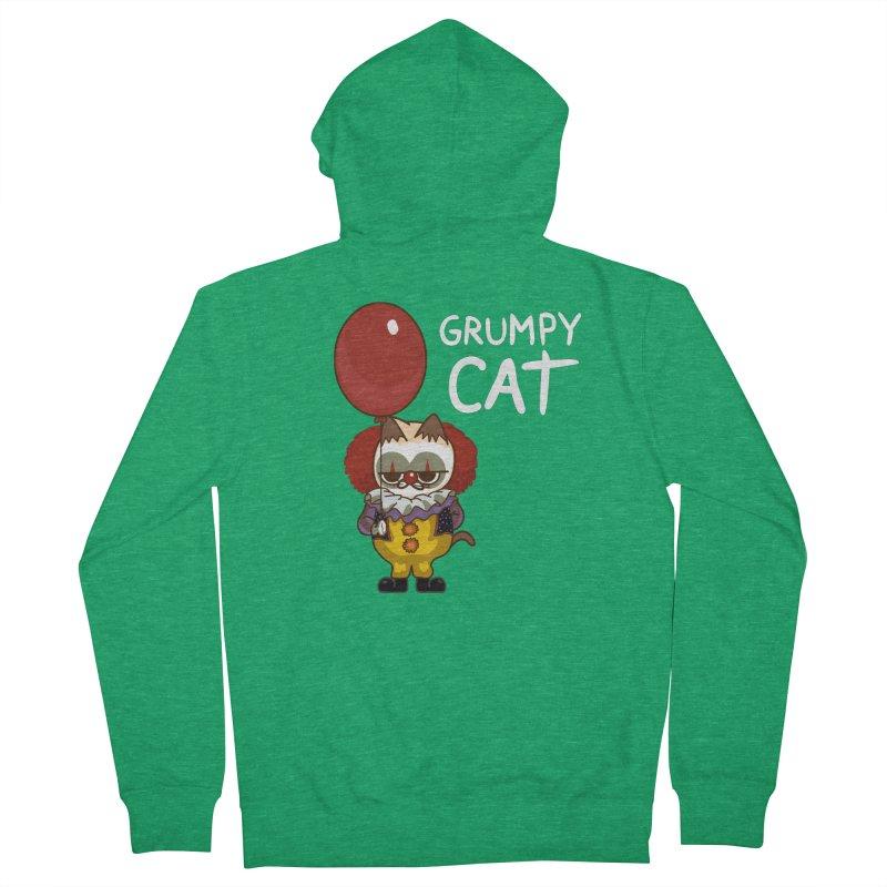 clown cat Men's Zip-Up Hoody by damian's Artist Shop