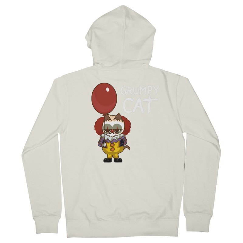 clown cat Men's Zip-Up Hoody by damian's Artist Shop
