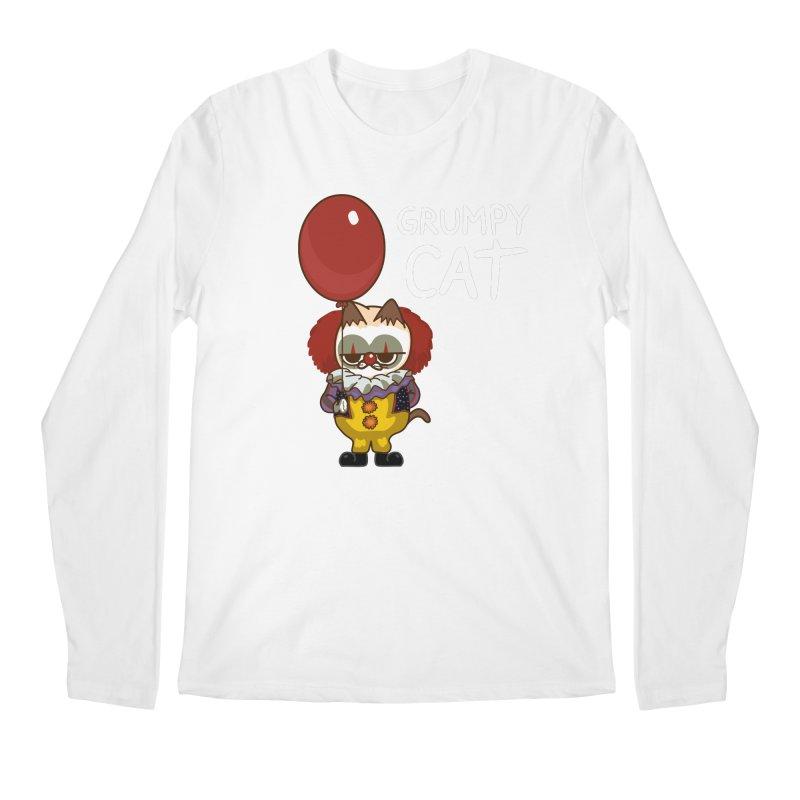 clown cat Men's Longsleeve T-Shirt by damian's Artist Shop