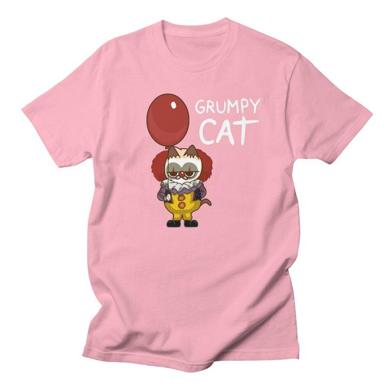 clown cat Men's T-Shirt by damian's Artist Shop
