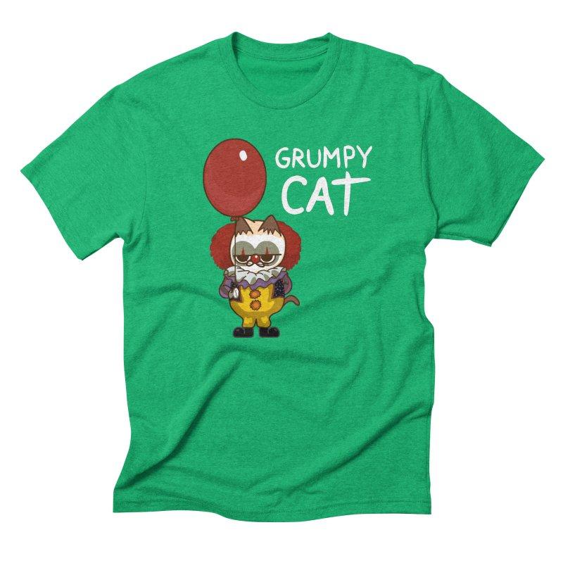 clown cat Men's Triblend T-Shirt by damian's Artist Shop